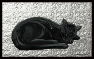 Black Cat on Foil by katiejo911