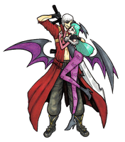 Dante and Morrigan by mslckitty