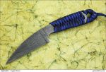 Fancy Damascus Vulcan Tactical Knife by Logan-Pearce