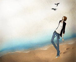 Lonely walk by Naimane