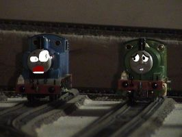 Thomas and Percy, SAY WHAAAA?? by missoliverandblossom
