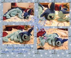 giant vaporeon plush by zukori