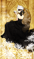 Black Lace Chrysanthum by SweetieMoon