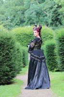 Stock - Faun lady gothic romantic turn back pose by S-T-A-R-gazer