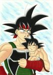 Bardock and Kakarot - Version II by Yugoku-chan