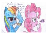 My little pony: Rainbow dash and Pinkie pie by TheXXCiCiXX99
