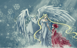 Sailor Moon Winter Wallpaper by blueangel06661