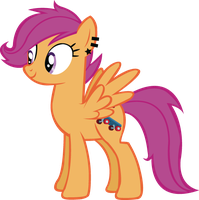 Harmony Crusaders: Scootaloo by schwarzekatze4