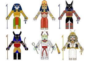 Egyptian Mythology Minimates by Chazwinski