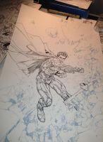 KR's Superman Cover WIP by devgear
