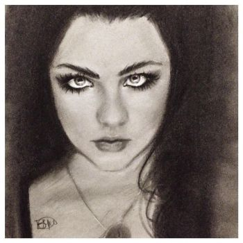 Amy Lee Charcoal Sketch by brandymarie87