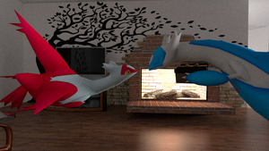 Latias and Latios - Happy Birthday [3D DOWNLOAD] by TheModerator