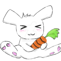 Mr.Bunny Loves His Carrot by OneCrazyBunny