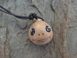 Goron Mask Necklace by meanlilkitty