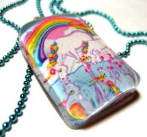 Lisa Frank Unicorns Pendant by nightsrequiem