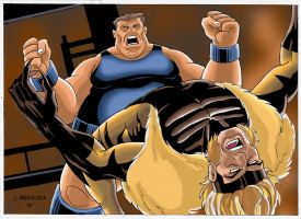 Blob vs Sabretooth by wardogs101