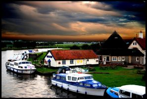 Acle Bridge Pub by Lightfoot11