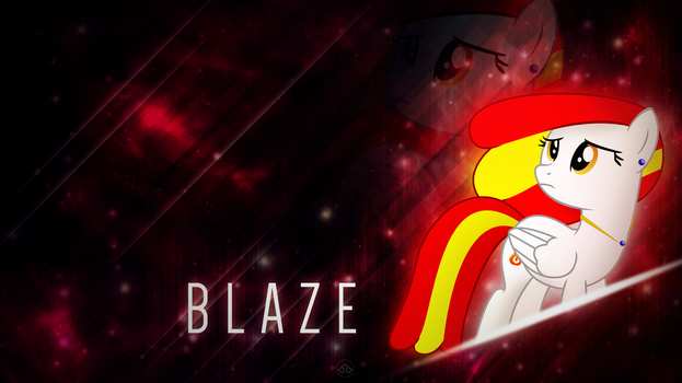 [MLP] [OC] [Art Trade] Blaze by BrainlessPoop