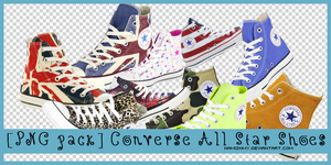 [PNG Pack] Converse All Star Shoes by namiznmy