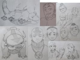 avatar sketches 2 by FlauZ