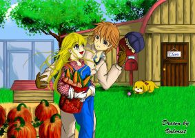 Harvestmoon Claire x Gray by Valcristsan