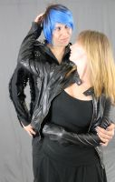 Leather and Spikes Couple 5 by MajesticStock
