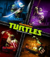 Nickelodeon TMNT 2012 Poster by Mohamed-Fahmy