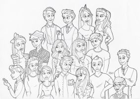 Glee cast, third season by crystalwaterfall