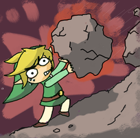 Toon Link Mountain Climbing by Jo-Onis