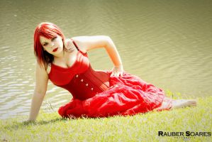 Red Lake Red Lady by puppetmissing