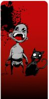 Baby JUON and cat by wasted-hopeless