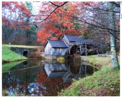 Mabry Mill in Fall Colors by seiyalover