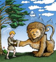 androcles and the lion by Fenster