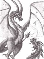 2 dragons by rockerchick17