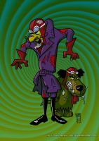 Zombie Dastardly and Muttley by AI-Joe