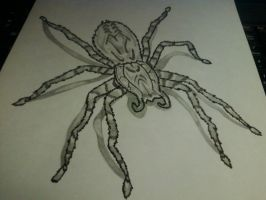 theres a fucking spider on my paper! by PurpleKilla
