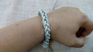 Leather Braided Bracelet by BastetCat