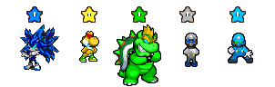 7 POWER STARS AND STAR BEASTS SPRITES PREVIEW by tfpivman