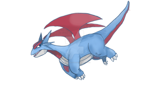 Day 3- salamence w/o background by moi-is-the-master