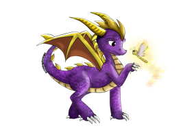 MA273 Style of Spyro ~ Spyro + Sparx Final Colours by xBeyondTheGalaxies
