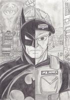 Batman Vs Captain Nascimento by AltaicTiger