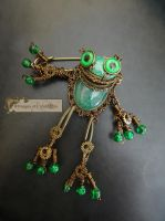 Steampunk Frog Brooch by Rouages-et-Creations