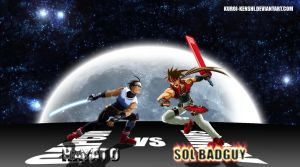 Hayato vs Sol Badguy 2 by kuroi-kenshi
