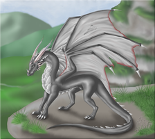 Silver Dragon by Willow141