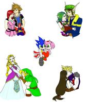 Top 5 Videogame Couples by jluvswicked