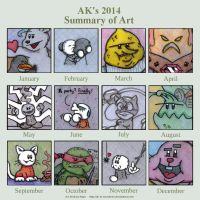 2014 Summary of Art by AK-Is-Harmless