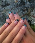 Deep blue with glitter by Mishice