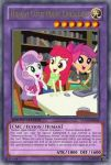 Human Cutie Mark Crusaders (MLP): Yu-Gi-Oh! Card by PopPixieRex