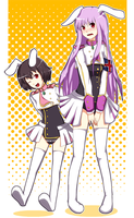 siesta reisen and tewi by pasteltea