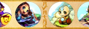 Katara n Others Keychains by borammy